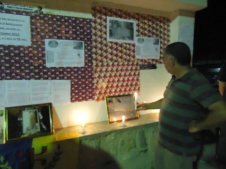 Allumage de Bougies le vendredi 02 septembre 2016 à 19 heures à Aokas à la mémoire du père fondateur de l'académie Berbère Abdelkader Rahmani 111