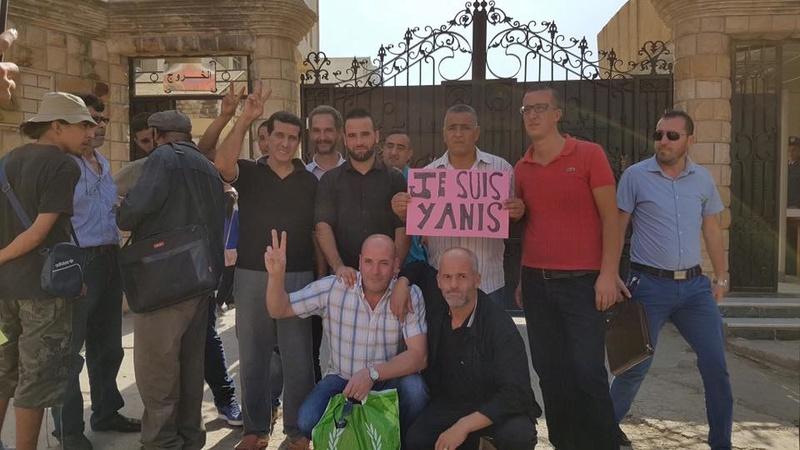 Rassemblement à Bejaia pour soutenir Yanis Adjlia victime d'acharnement sauvage des autorités locales 1122