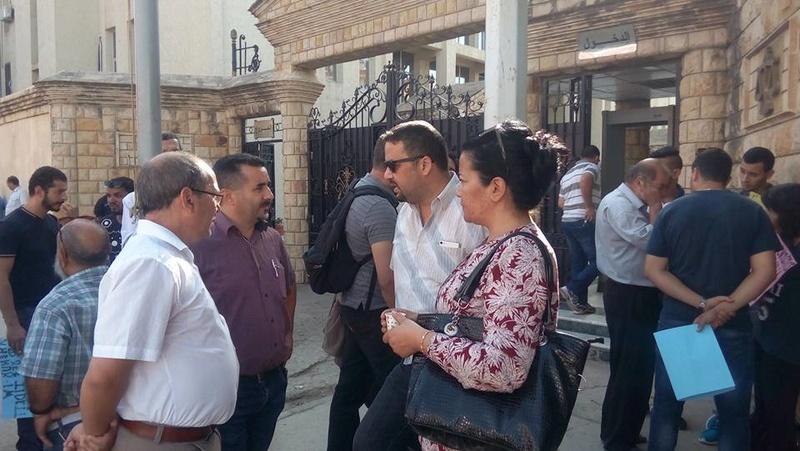 Rassemblement à Bejaia pour soutenir Yanis Adjlia victime d'acharnement sauvage des autorités locales 1131