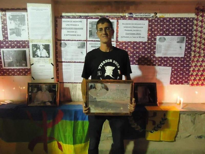 Allumage de Bougies le vendredi 02 septembre 2016 à 19 heures à Aokas à la mémoire du père fondateur de l'académie Berbère Abdelkader Rahmani 114