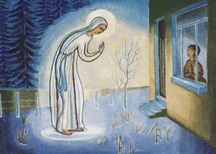 Chronologi des dates et paroles de La Vierge des Pauvres à Mariette Béco Appari10