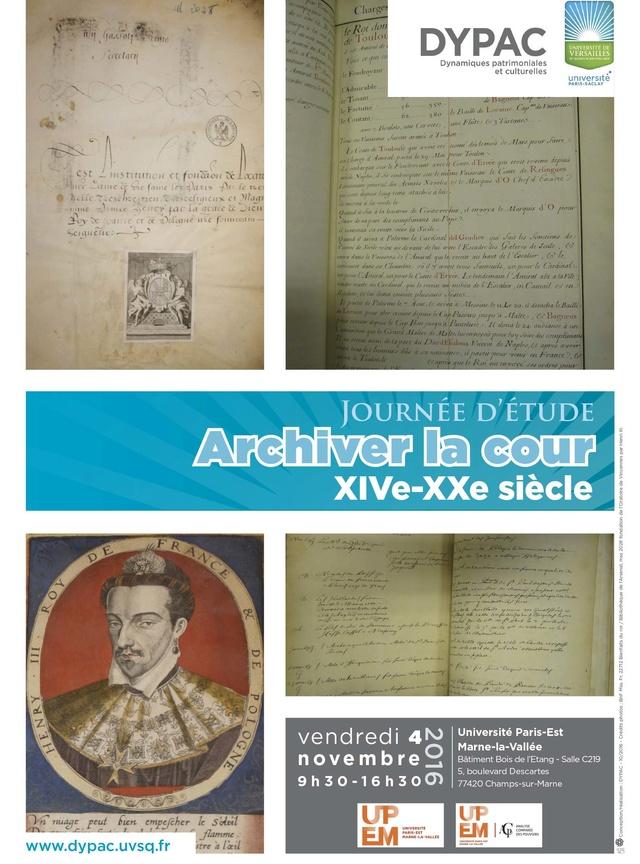Cultures écrites à la Cour de France / Archiver la Cour Affich10