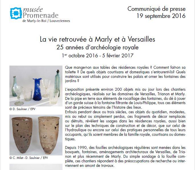 La vie retrouvée à Marly et à Versailles Cp_arc25