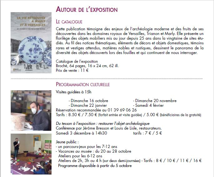 La vie retrouvée à Marly et à Versailles Cp_arc32