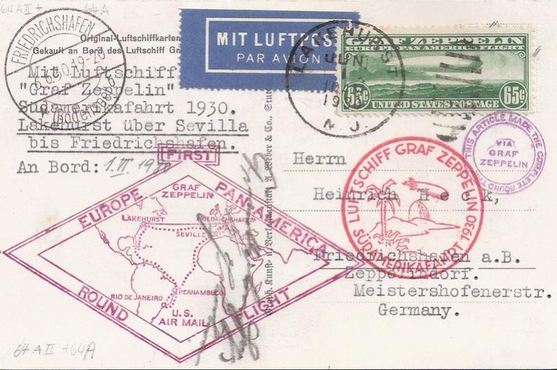"""nach - Südamerikafahrt 1930 (Rundfahrt-) Post nach Friedrichshafen"""" - Seite 6 Roundt10"""