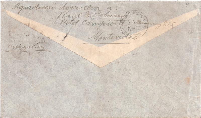 """nach - Südamerikafahrt 1930 (Rundfahrt-) Post nach Friedrichshafen"""" - Seite 6 Urugua11"""