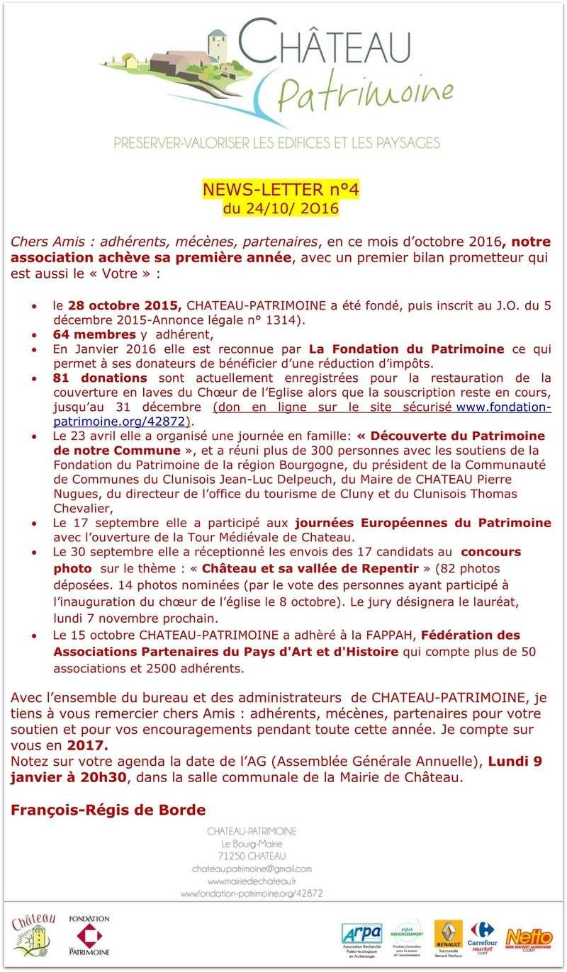 Château Patrimoine  News letter n° 4 C  du 24 octobre 2016 121