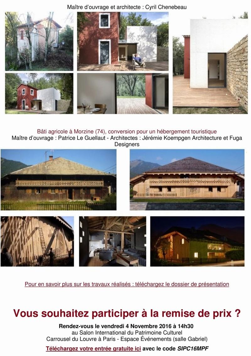 """9 lauréats pour le prix """"Architecture & Patrimoine"""" de Maisons Paysannes de France 5_copi12"""