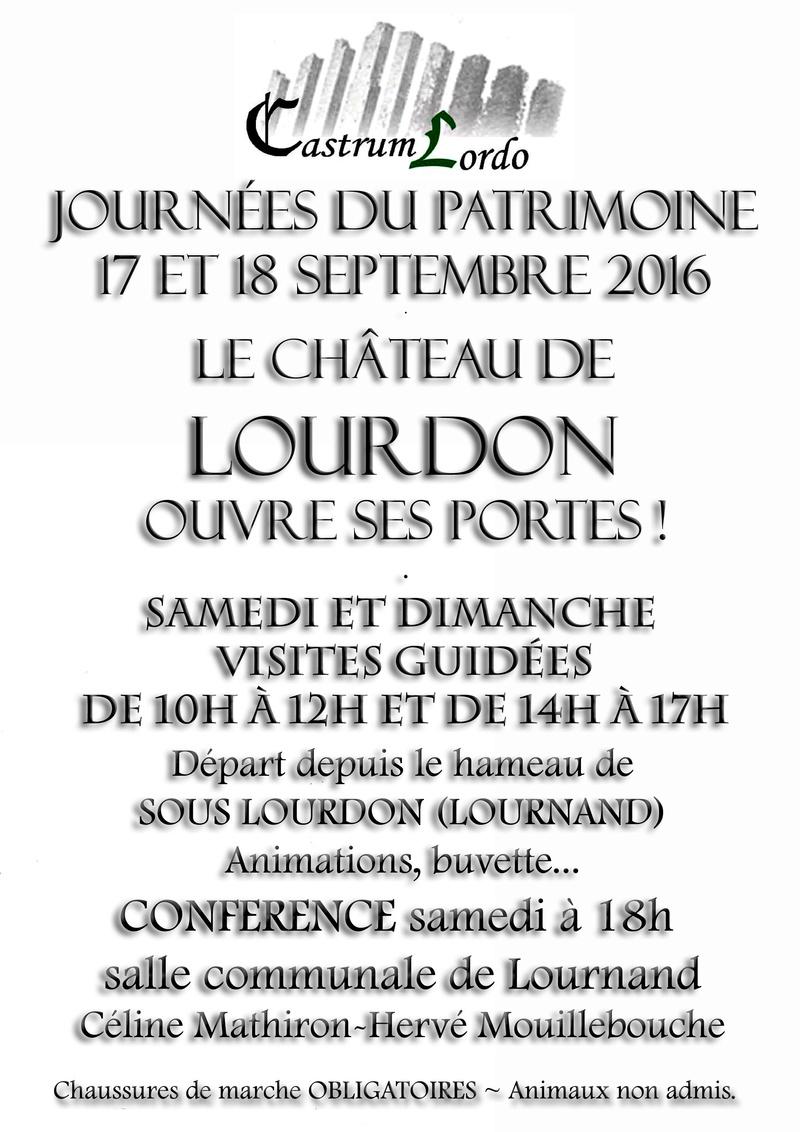 Castrum Lordo journée du patrimoine 2016 Affich13