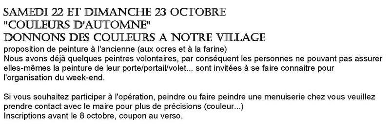 Couleurs d'automne à la Chapelle-sous-Brancion les 22 et 23 octobre 2016 « DONNONS DES COULEURS A NOTRE VILLAGE » Couleu10