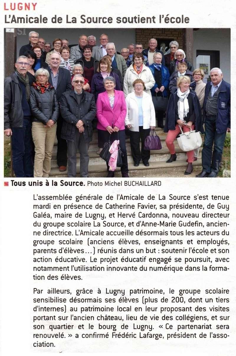 LUGNY L'Amicale de La Source soutient l'école pour sensibiliser les élèves et les collégiens de cet établissement au patrimoine  Lugny_16