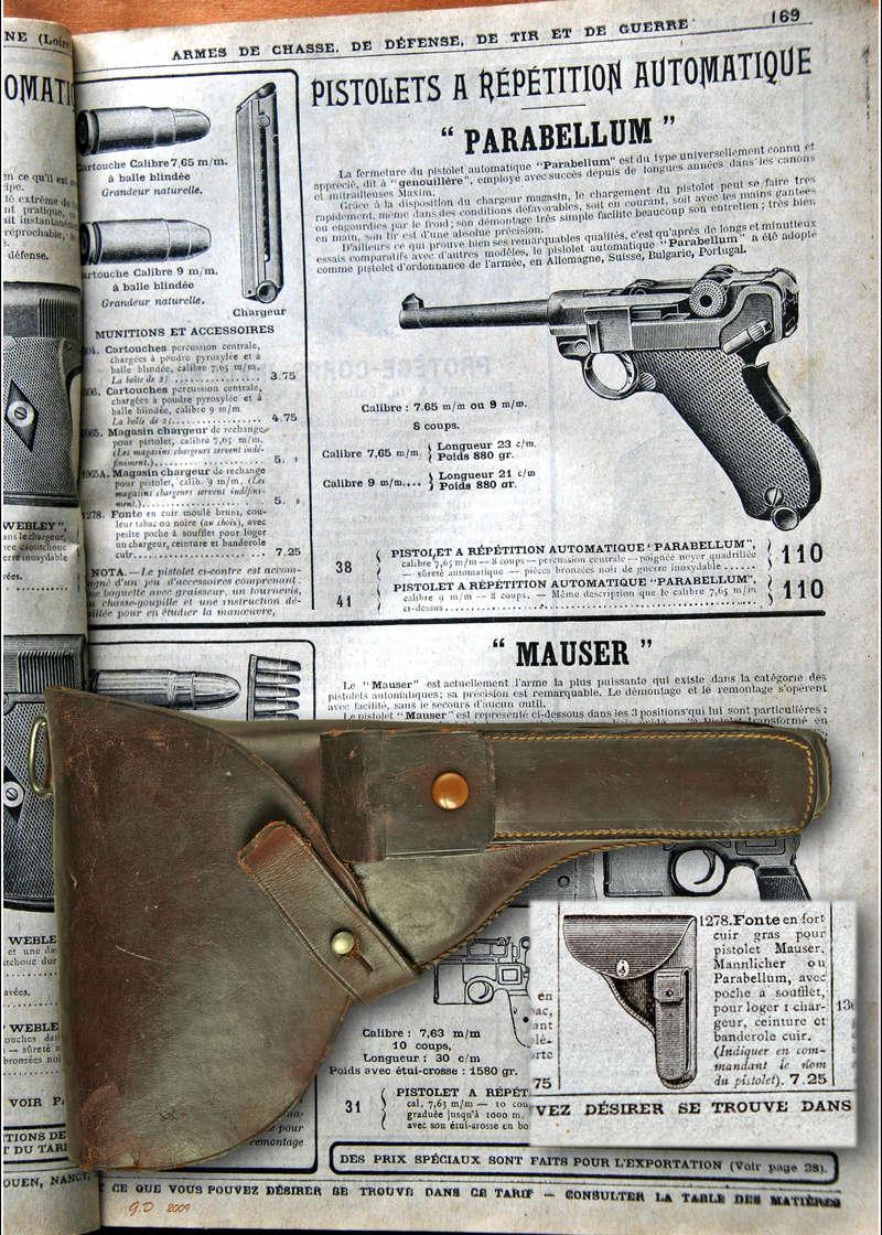 Le Luger Parabellum du tarif album de la Manufacture Française d'Armes et Cycles de St Etienne, année 1911. _mg_0510