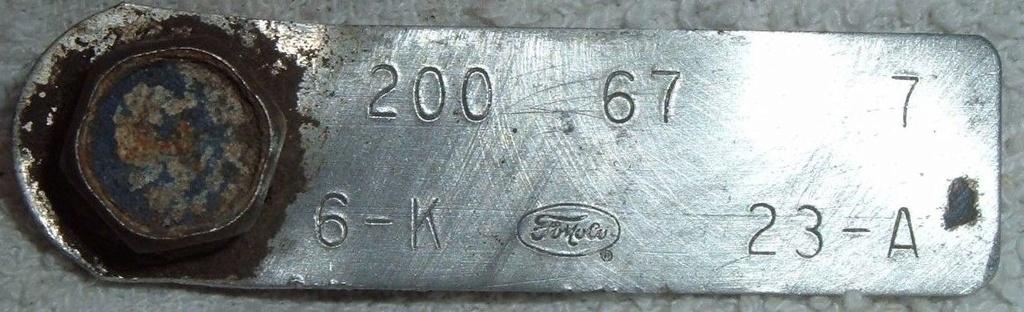 Comment décoder la plaquette d'information du moteur (1967) 200_6710