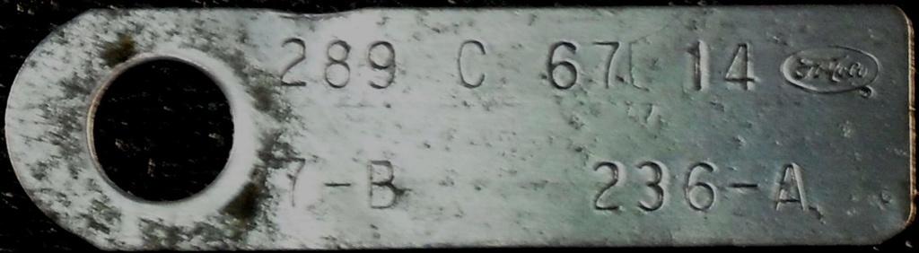 Comment décoder la plaquette d'information du moteur (1967) 289_6710