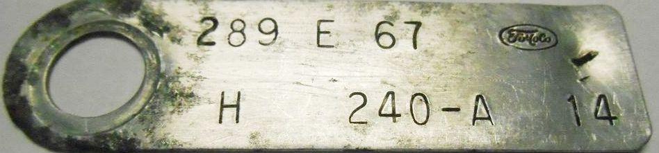 Comment décoder la plaquette d'information du moteur (1967) 289_6711