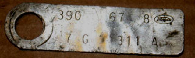 Comment décoder la plaquette d'information du moteur (1967) 390_6710