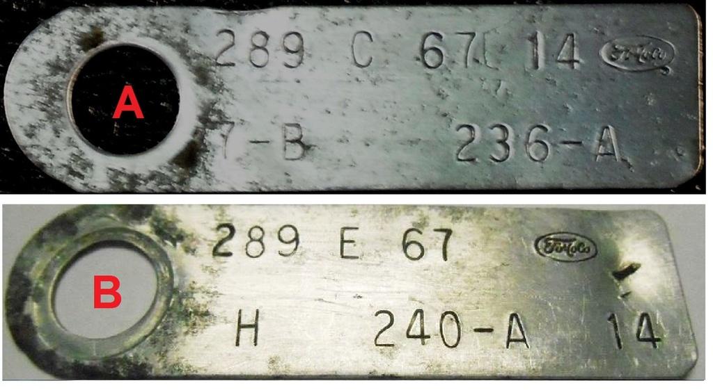 Comment décoder la plaquette d'information du moteur (1967) Compar10