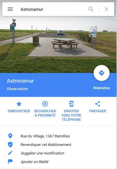 Le site sur Google Maps Captur16