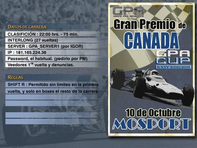 CUP Edicion XXIV - Mosport Anunci17