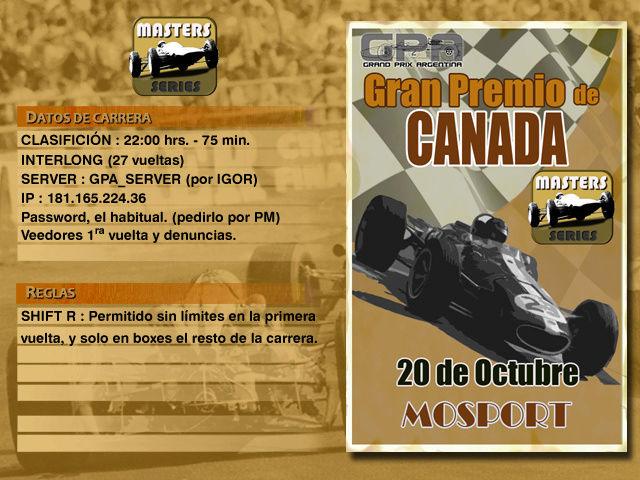 Masters Series 4ta Edición (MOD66) - Mosport Anunci21