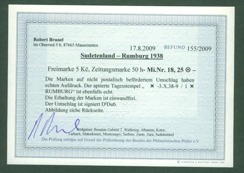 sudetenland - Sudetenland - Ausgaben für Rumburg 18_auf11