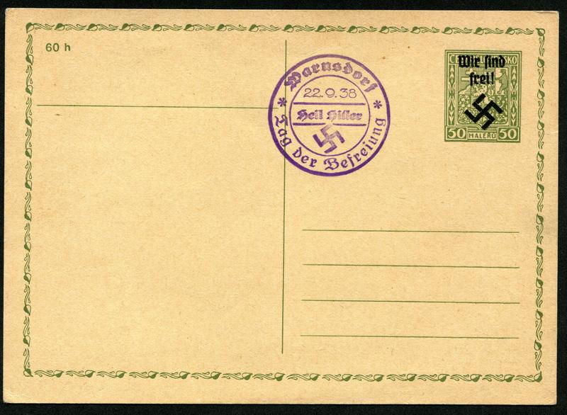 sudetenland - Sudetenland - Ausgaben für Rumburg Postka10