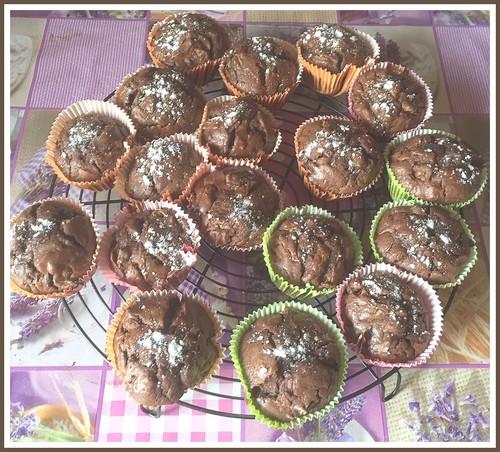 Muffins au chocolat, amandes et courgettes Muffin10