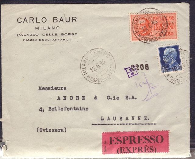 La censure italienne d'occupation en France avant l'invasion de la zone libre : MENTON ou MILAN 11002010