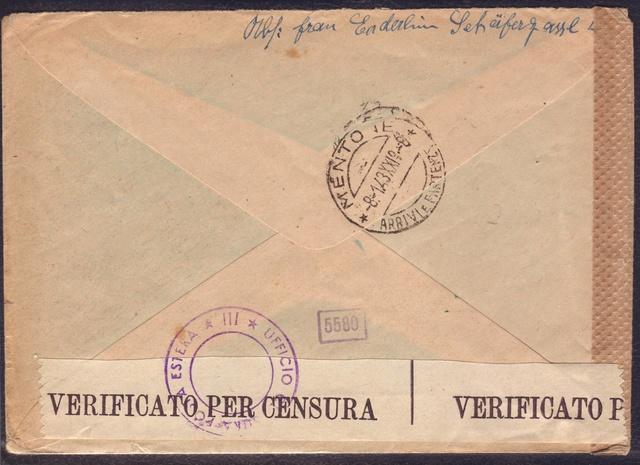 La censure italienne d'occupation en France avant l'invasion de la zone libre : MENTON ou MILAN 3005012