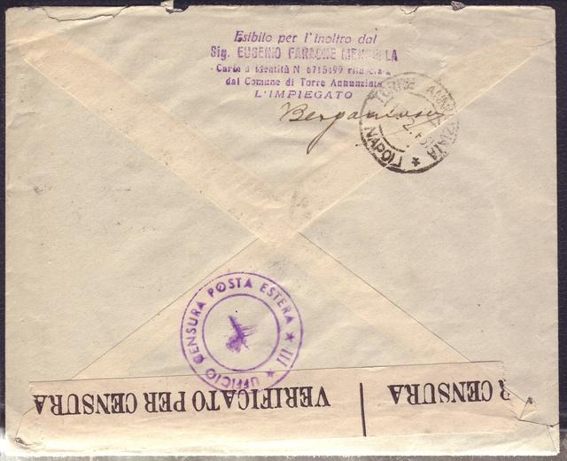 La censure italienne d'occupation en France avant l'invasion de la zone libre : MENTON ou MILAN 8002411