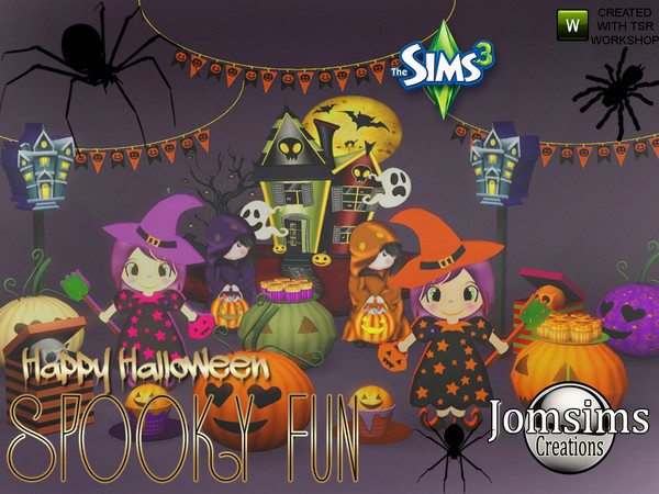 Spooky fun deco set by jomsims W-600h13