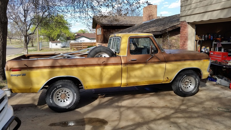 The F250 to F100 turbo project - it's alive. 20160312