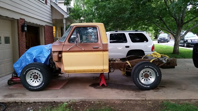 The F250 to F100 turbo project - it's alive. 20160811