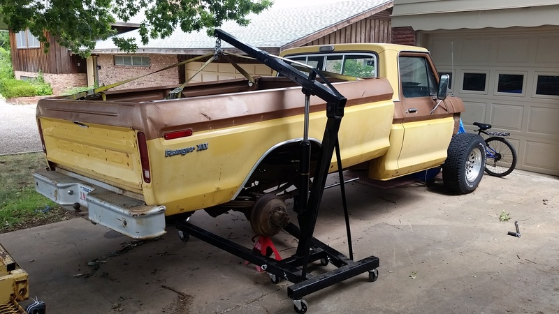 The F250 to F100 turbo project - it's alive. 20160814