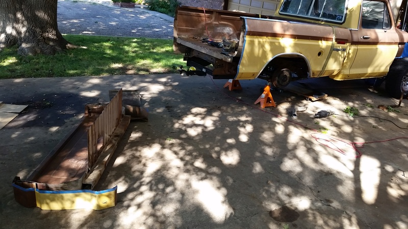 The F250 to F100 turbo project - it's alive. 20160911