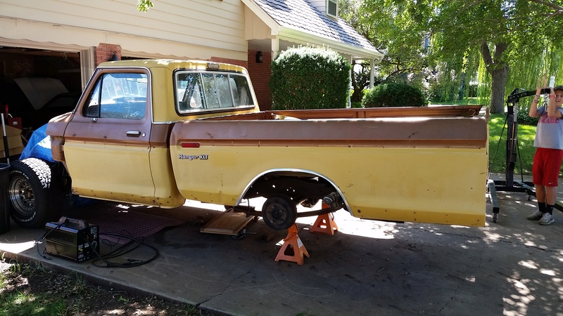 The F250 to F100 turbo project - it's alive. 20160912
