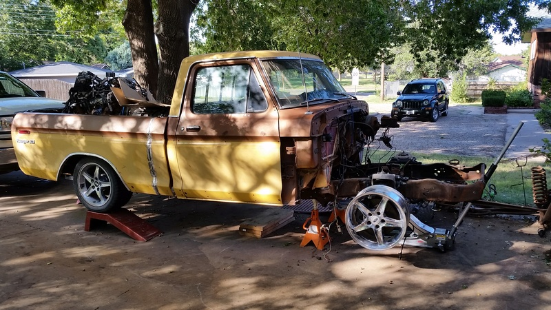 The F250 to F100 turbo project - it's alive. 20160916