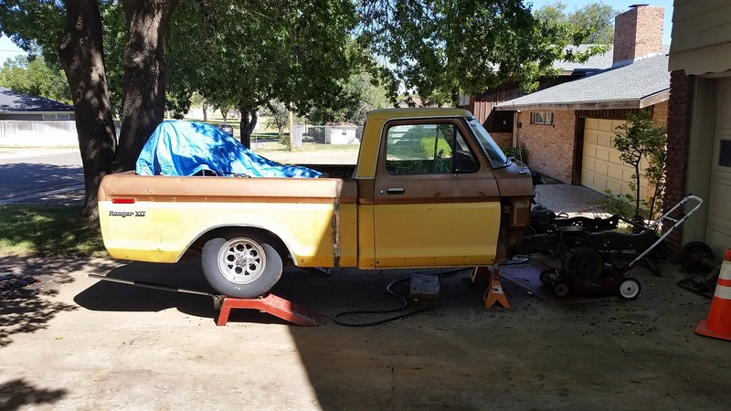 The F250 to F100 turbo project - it's alive. 20161011