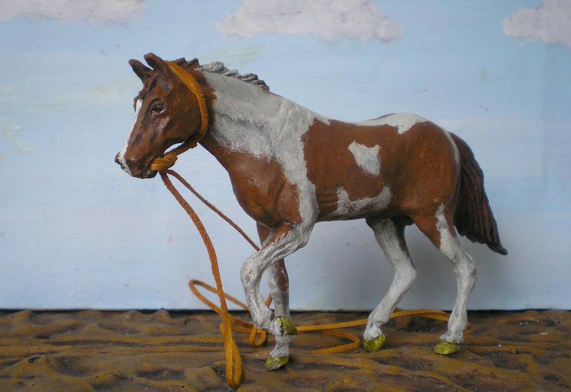 Meine Pferdesammlung - eigene Bemalungen und Umbauten in 54 bis 90 mm 202d1h10