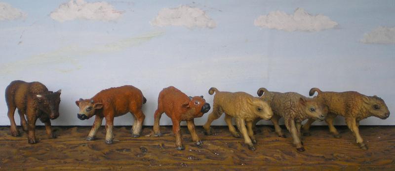 Bemalungen, Umbauten, Modellierungen - neue Tiere für meine Dioramen - Seite 5 Bisons11