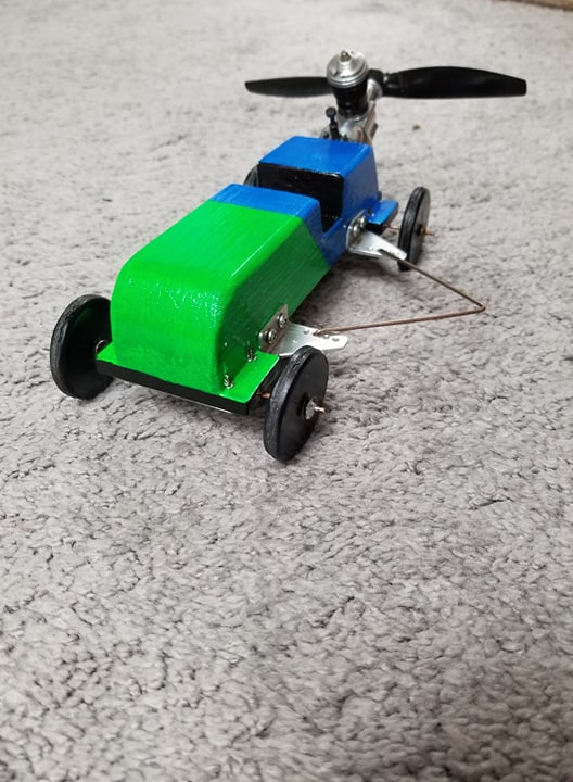 Homemade Tether Car  C110