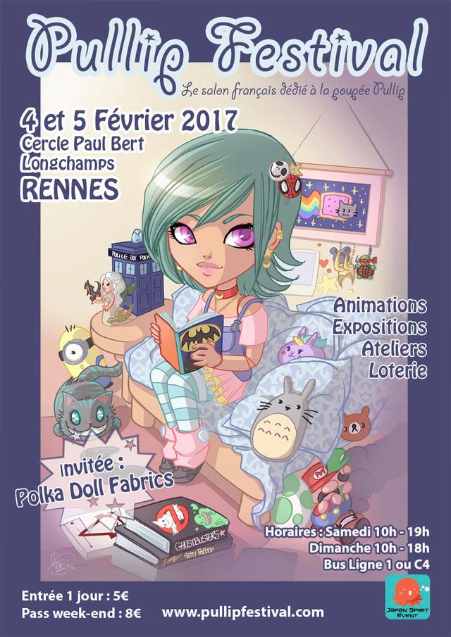Pullip Festival 4 et 5 février 2017 à Rennes Affich11