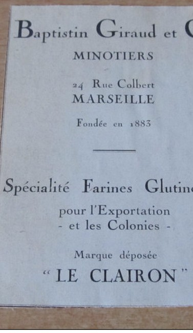 "Bouches du Rhone - Plomb de scelle ""le clairon - Baptistin Giraud a Marseille"". Giraud10"