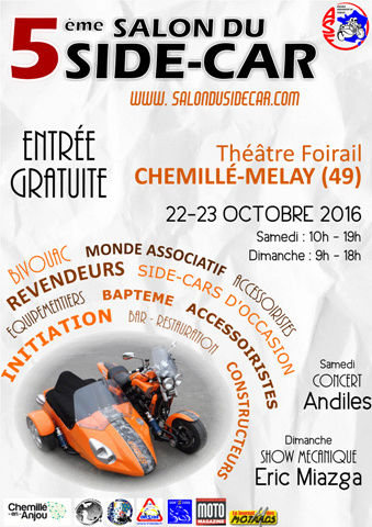 [SORTIES] salon du side car a CHEMILLE – MELAY (49) Affich11