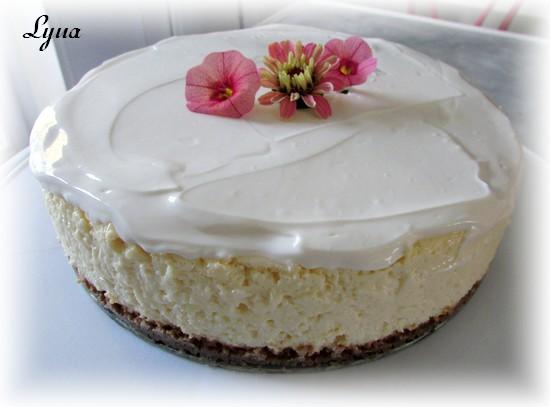 Gâteau au fromage, garniture à la crème sûre Gyteau12