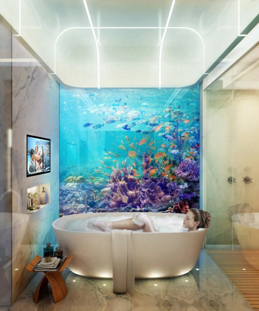 فيلات فاخرة عائمة بأعماق البحر فى دبى . الان يمكنك النوم مع السمك (بالصور) 27580510