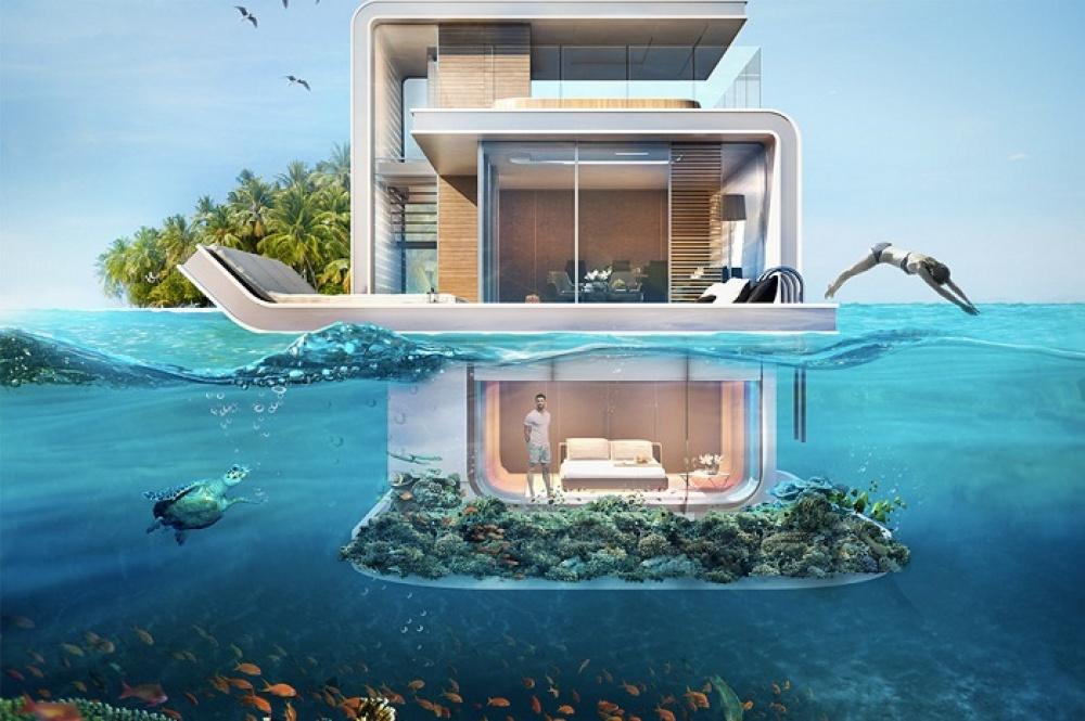 فيلات فاخرة عائمة بأعماق البحر فى دبى . الان يمكنك النوم مع السمك (بالصور) 27620510