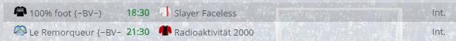 Points infos matchs IE et IS saison81 Bv20011
