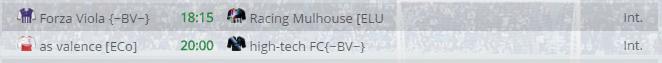 Points infos matchs IE et IS saison81 Bv20013