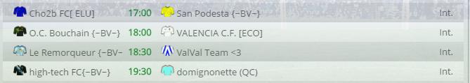 Points infos matchs IE et IS saison81 Bv30010
